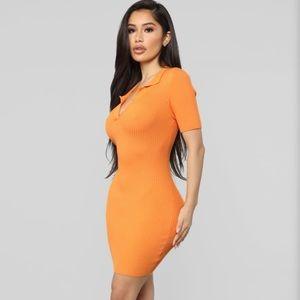 Fashion Nova Dresses - Fashion Nova sweater collar dress - orange